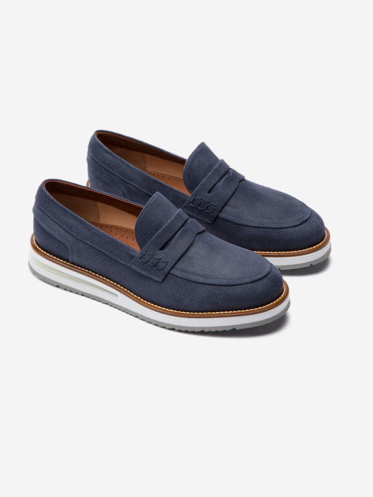 Air Moccasin Blue Suede