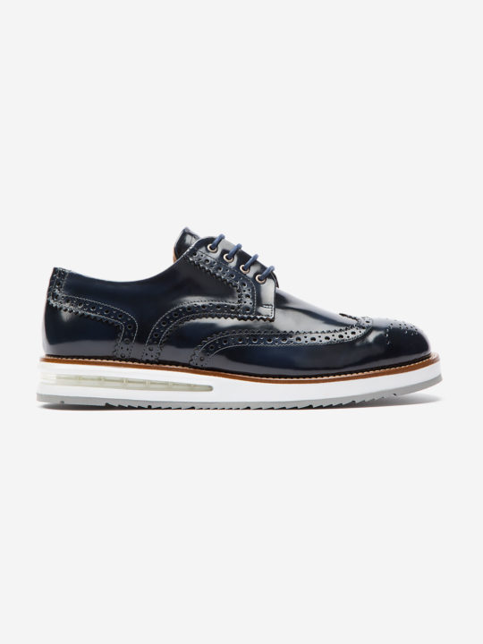 Air Brogue Blue Brushed Leather