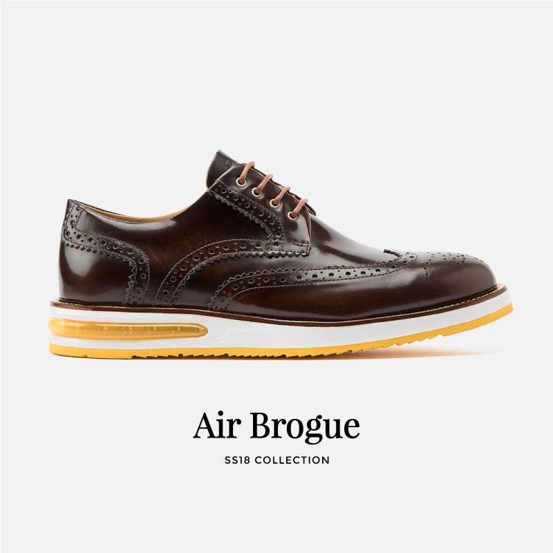 Air Brogue Brown