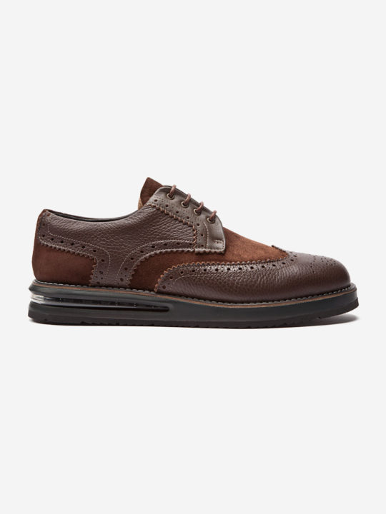 Air Brogue Brown Calf & Suede