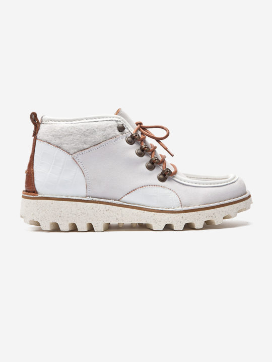 Hike Mocca Boot White