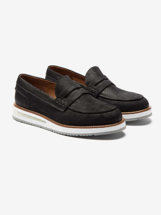 Moccasin Black Suede
