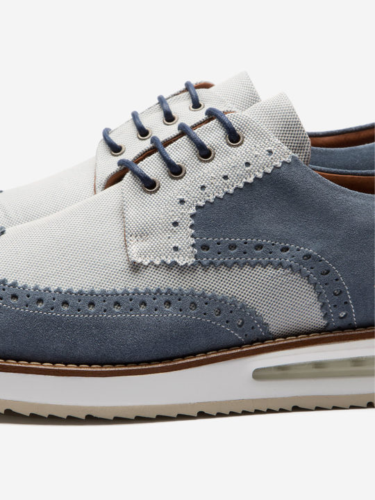 Air Brogue Blue Canvas