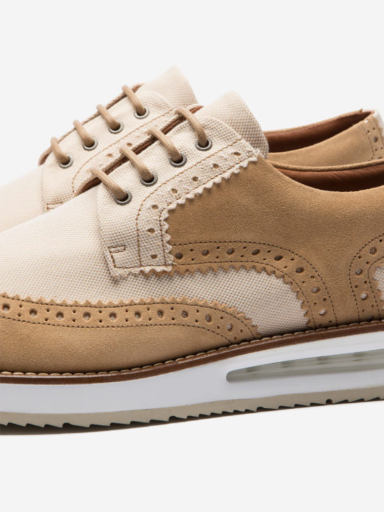 Air Brogue Beige Canvas