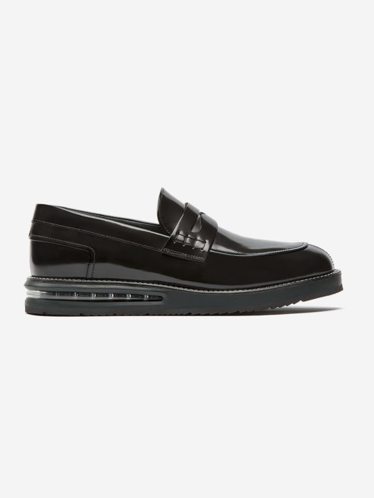 Air Moccasin Black Leather