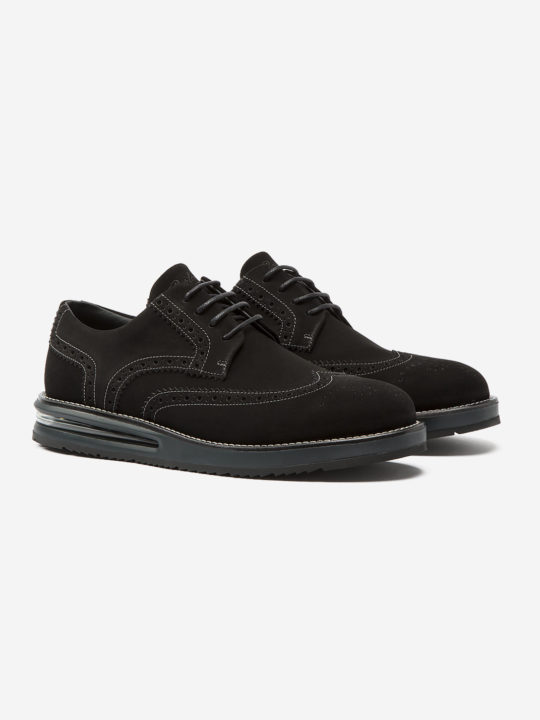 Air Brogue Black Suede