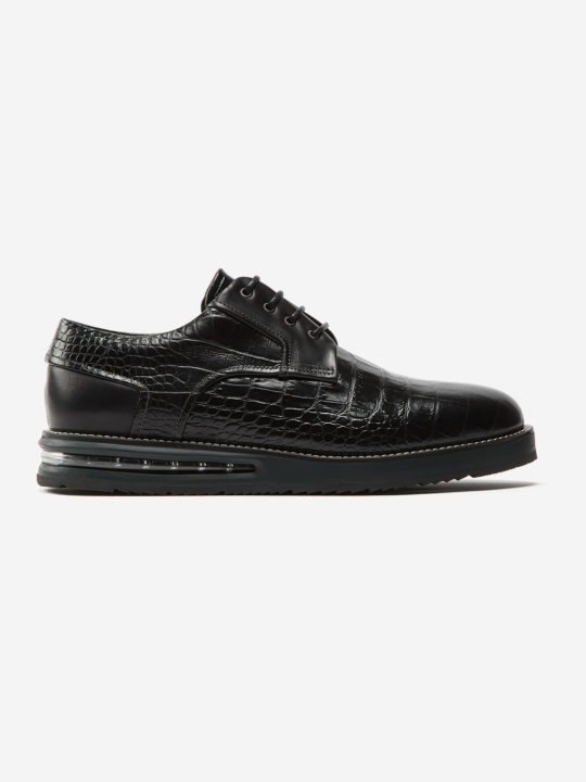 Air Derby Black Croco
