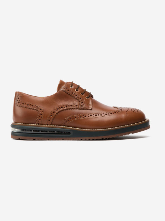 Air Brogue Natural Brown Leather