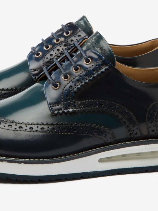 Air Brogue Color Block Blue