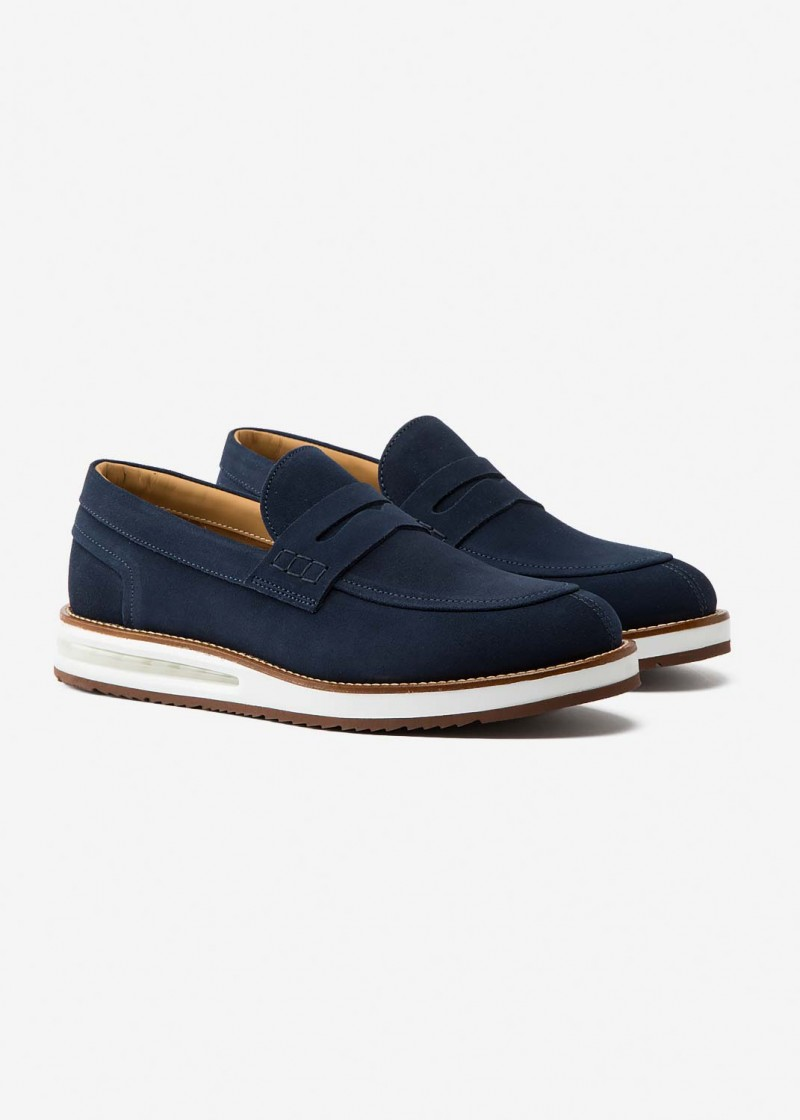 Air Mocassin Blue Suede