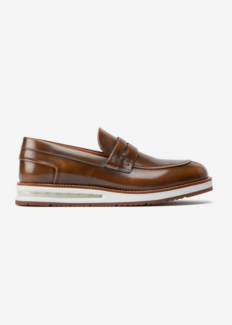Air Mocassin Brown Leather
