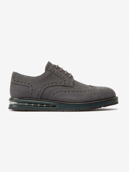 Air Brogue Dark Grey Suede