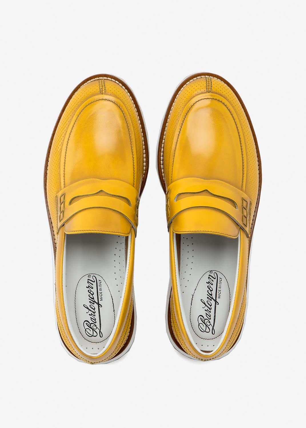 Air Mocassin Yellow Leather