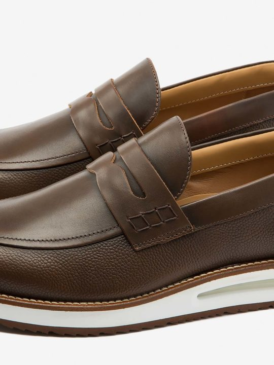 Air Mocassin Choco Leather