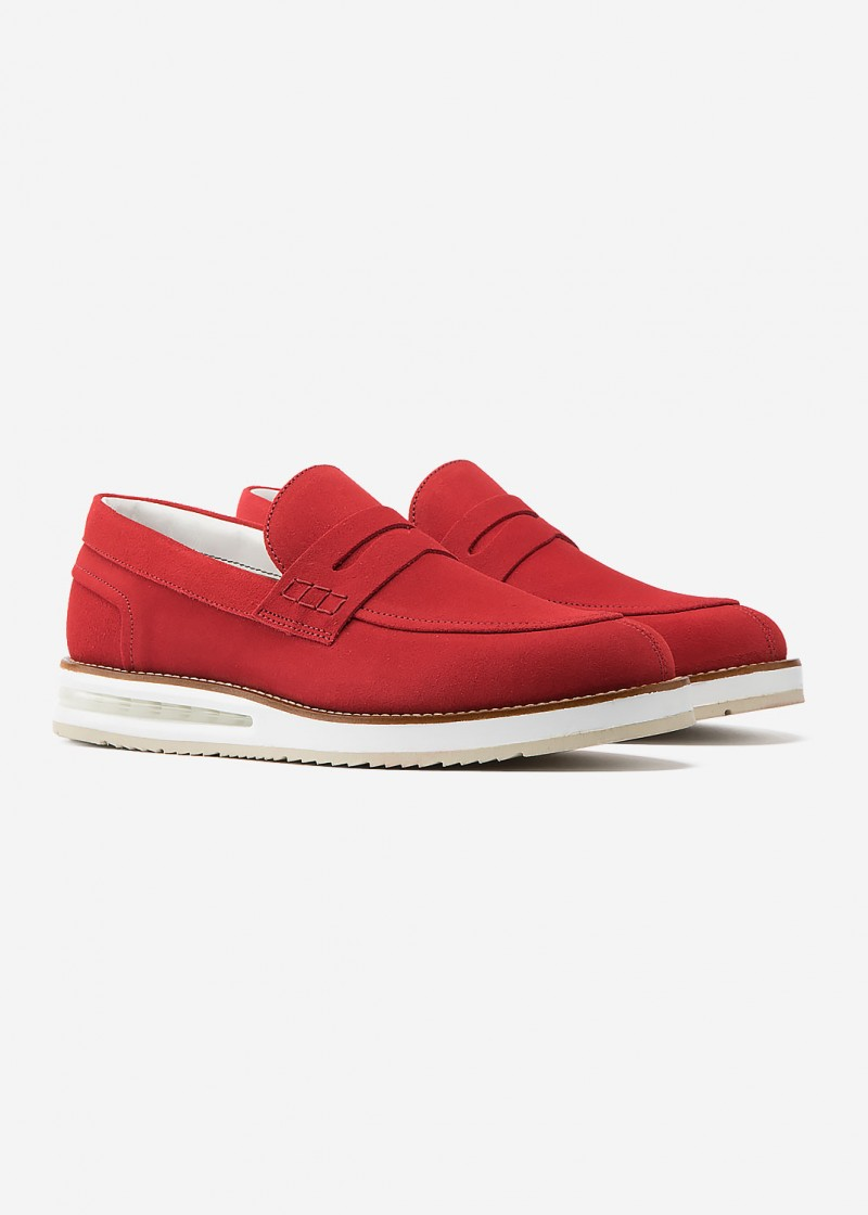 Air Mocassin Red Suede