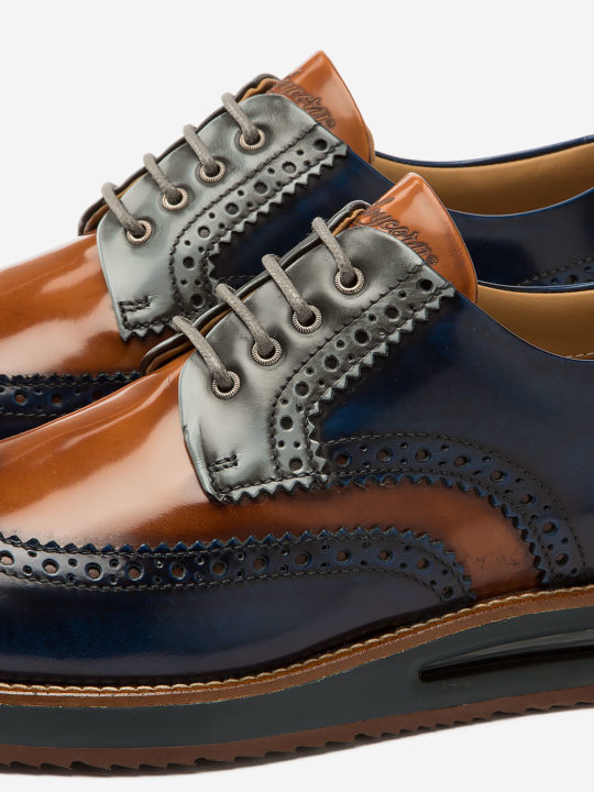 Air Brogue Color Block Caramel