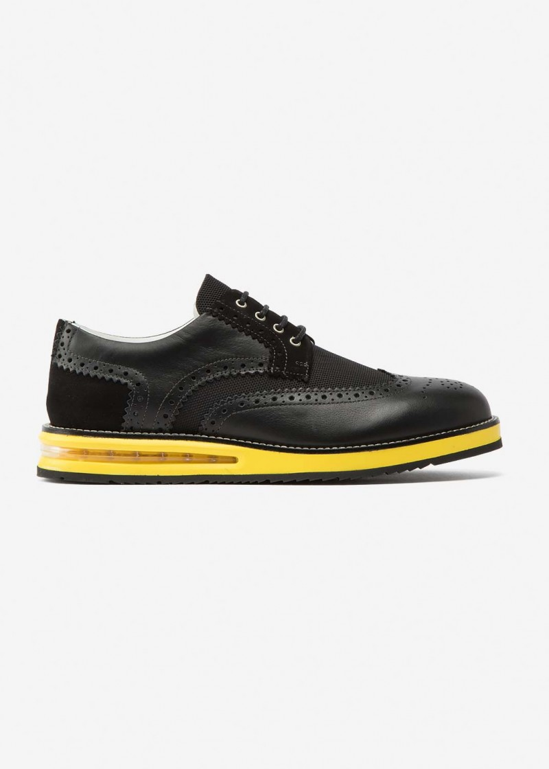 Air Brogue Black Material Block