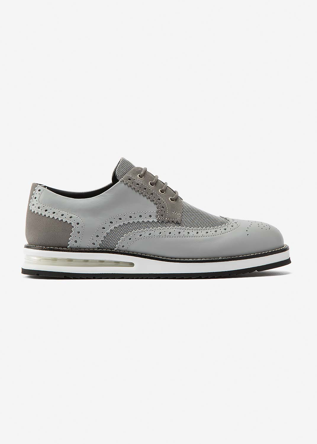 Air Brogue Grey Material Block