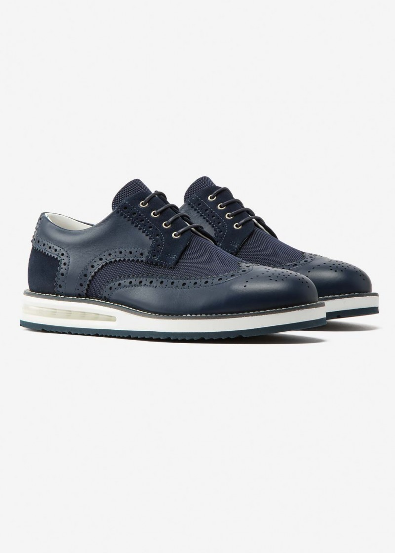 Air Brogue Blue Material Block