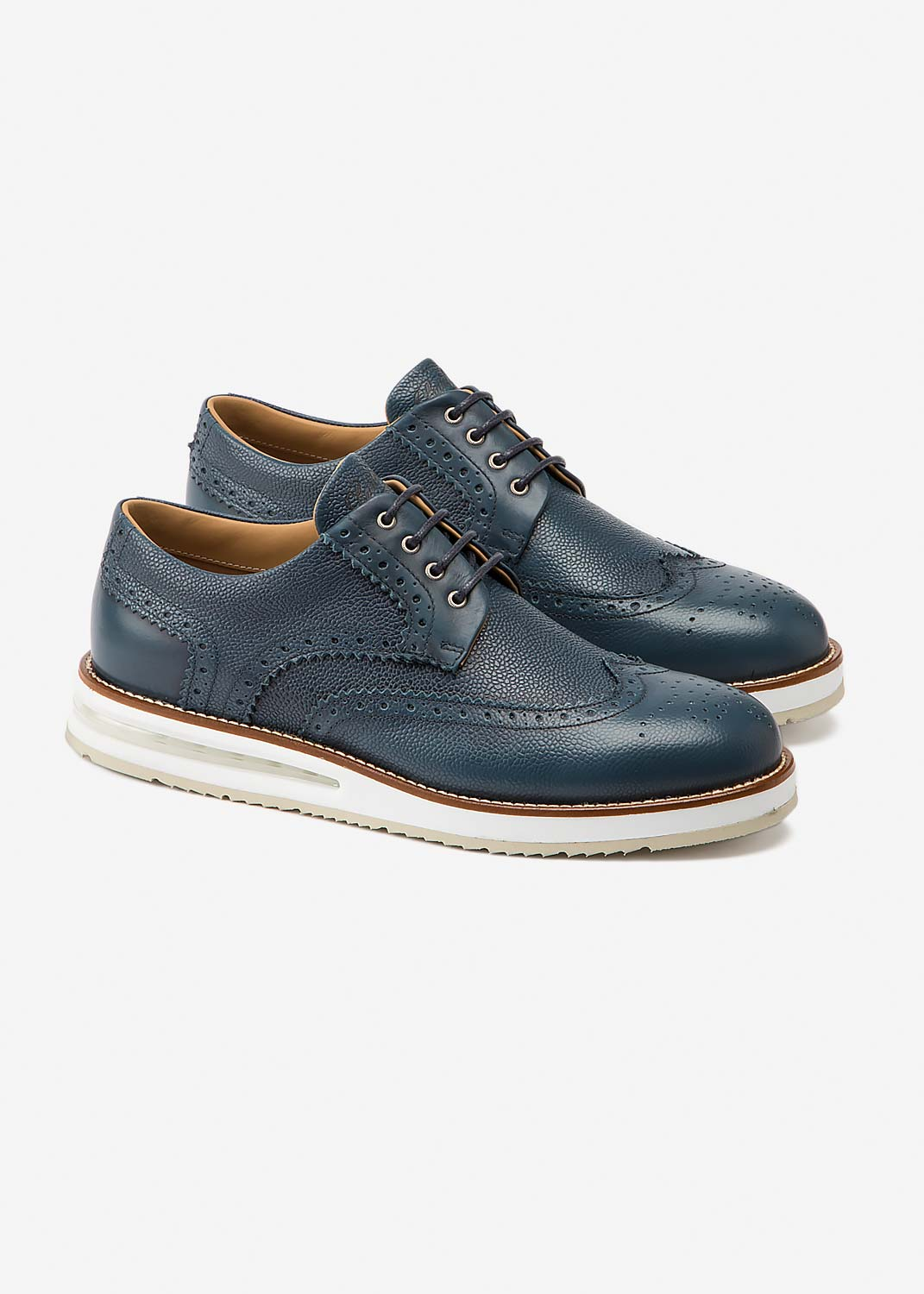 Air Brogue Blue Pebble Grain