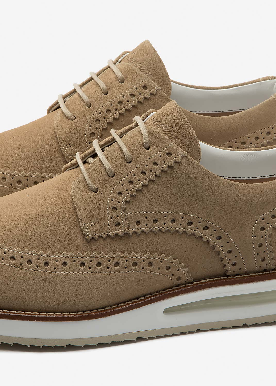 Air Brogue Beige Suede