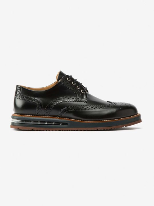 Air Brogue Black Leather (BlackMidsole)