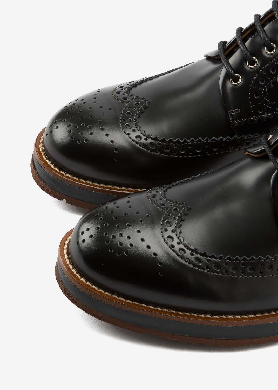 Air Brogue Black Leather (BlackMidsole)