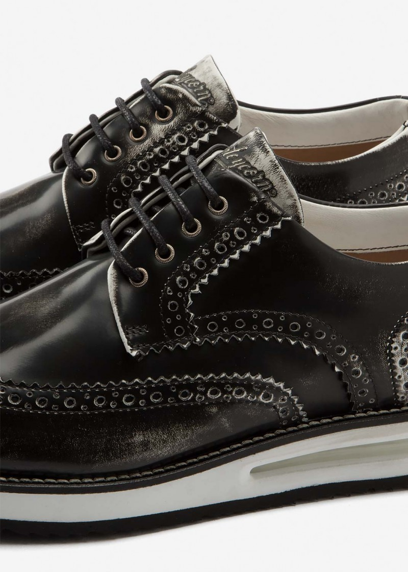 Air Brogue Black Brushed