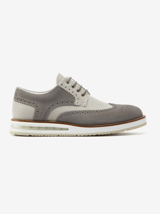 Air Brogue Grey Canvas