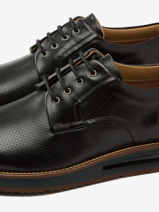 Air Derby Black Leather (Black Midsole)