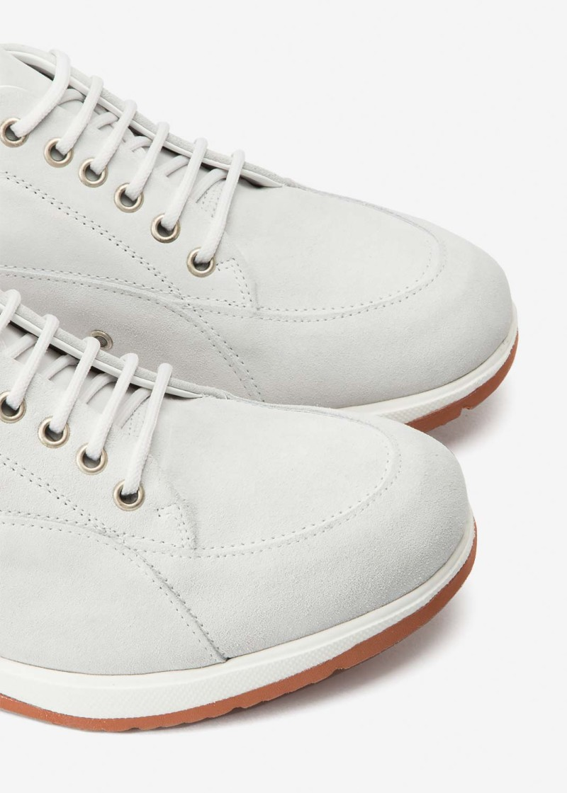 New Classic White Suede