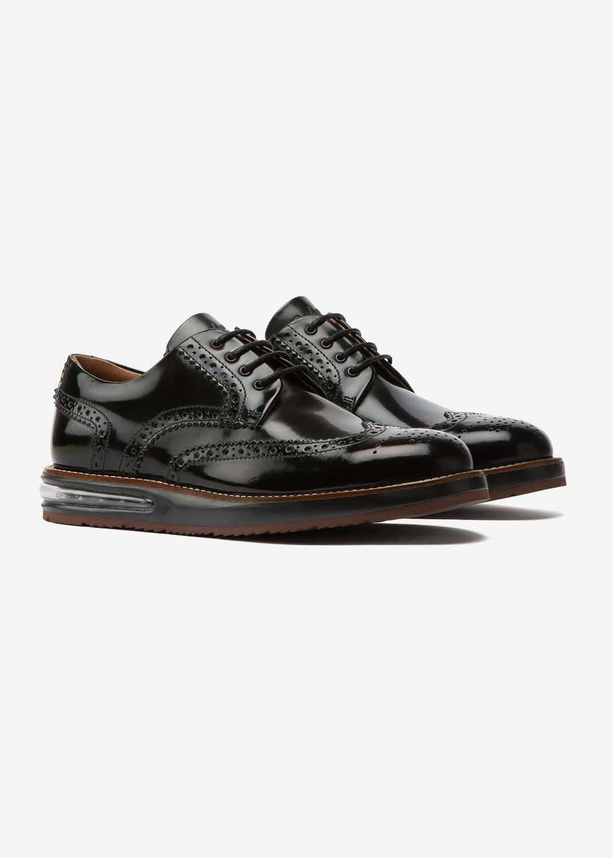 Air Brogue Black Leather