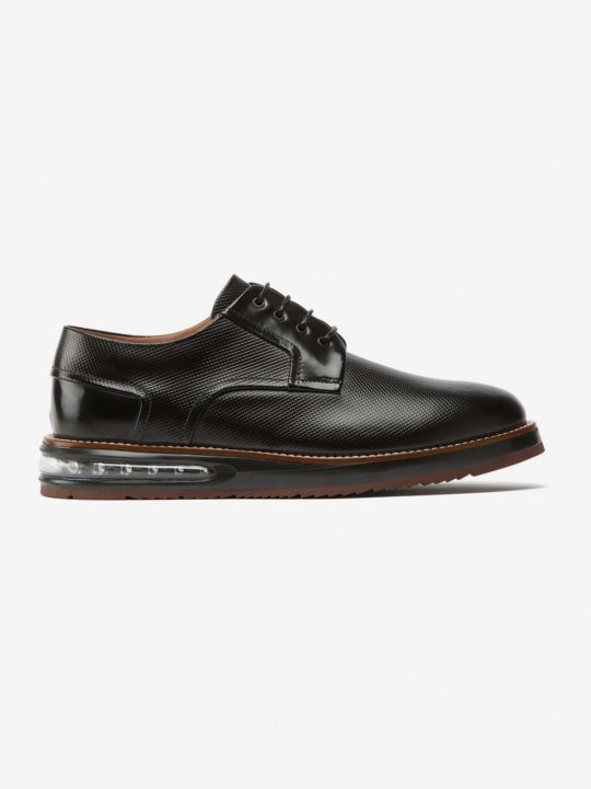Air Derby Black Leather