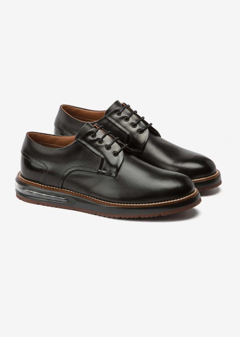 Air Derby Black Leather