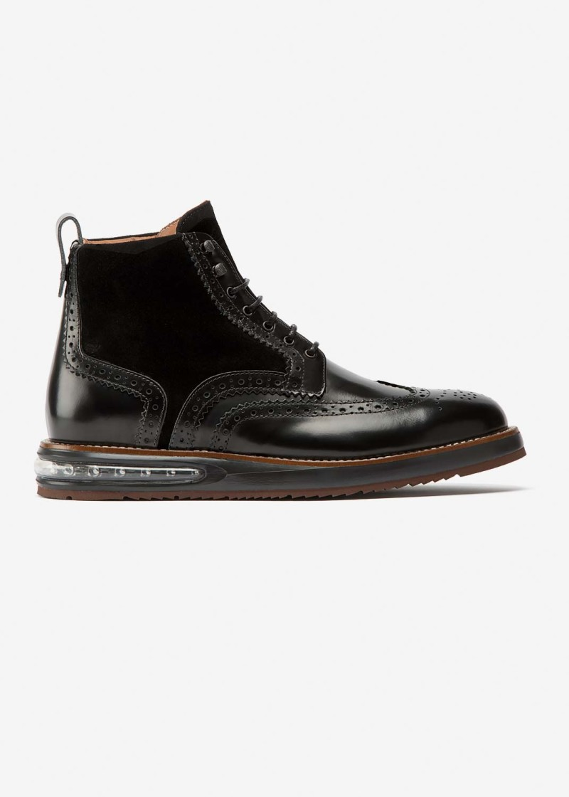 Air Brogue Boot Black