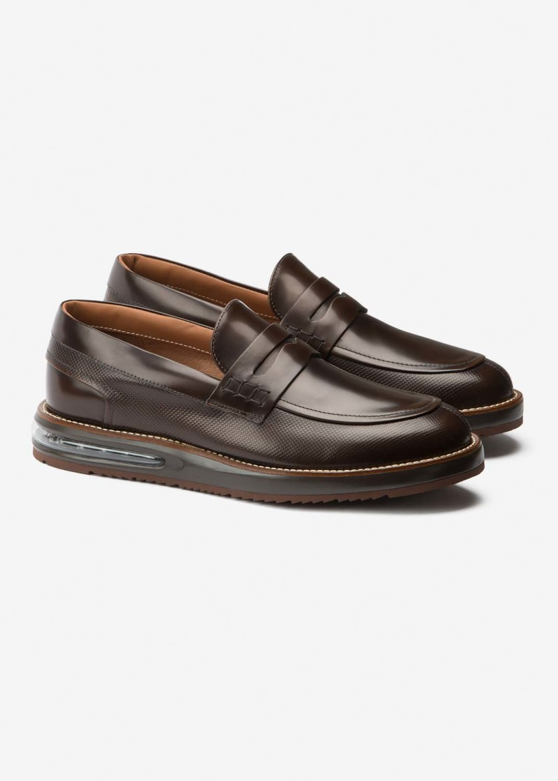 Air Moccasin Choco Leather