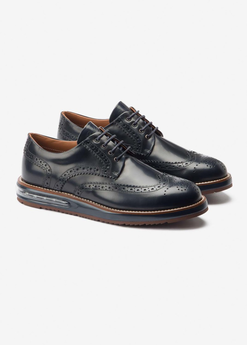 Air Brogue Blue Leather