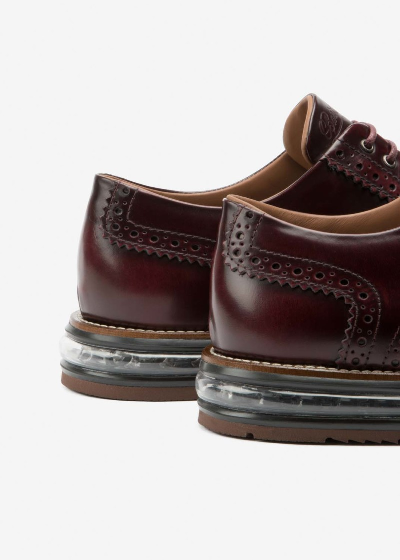 Air Brogue Wine Leather