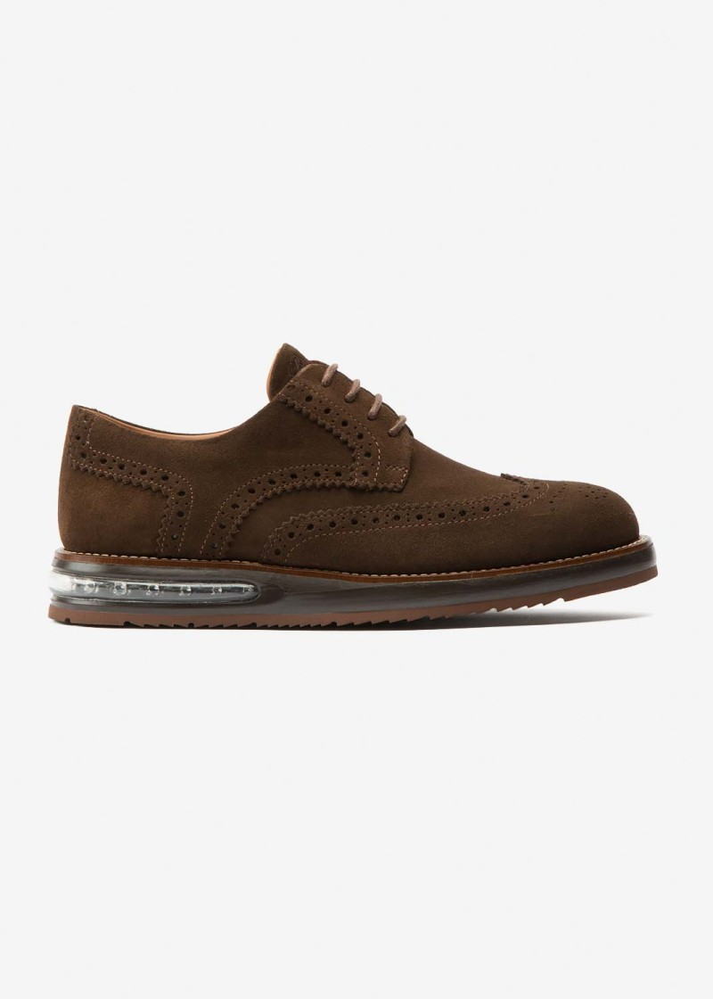 Air Brogue Brown Suede