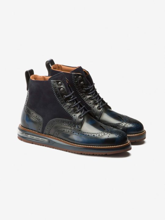 Air Brogue Boot Blue Camo
