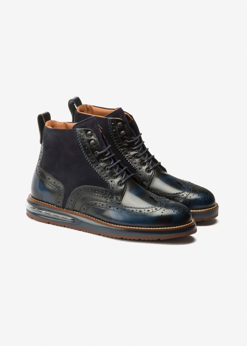 Air Brogue Boot Blue Camo