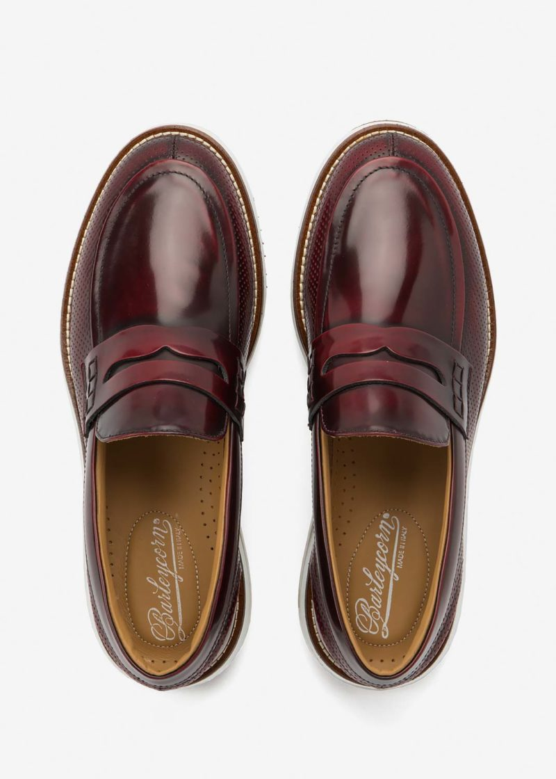 Air Moccasin Wine Leather