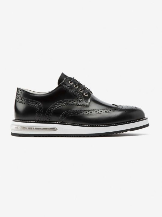 Air Brogue Black Leather