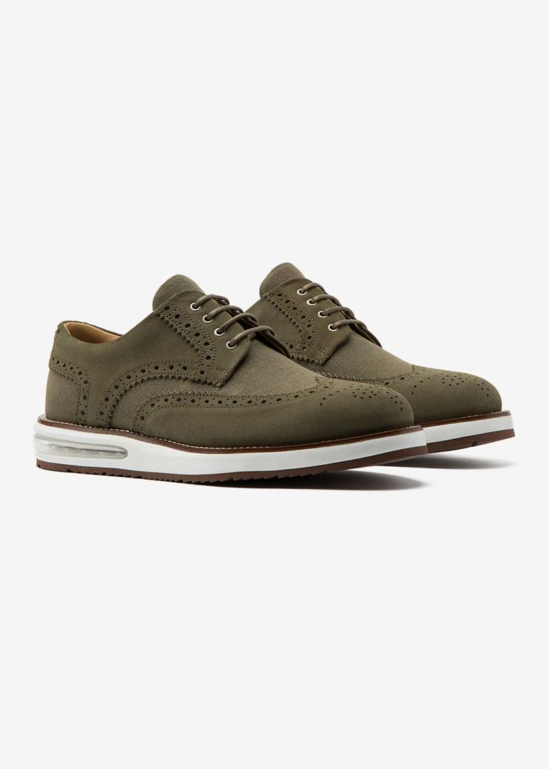 Air Brogue Canvas Army