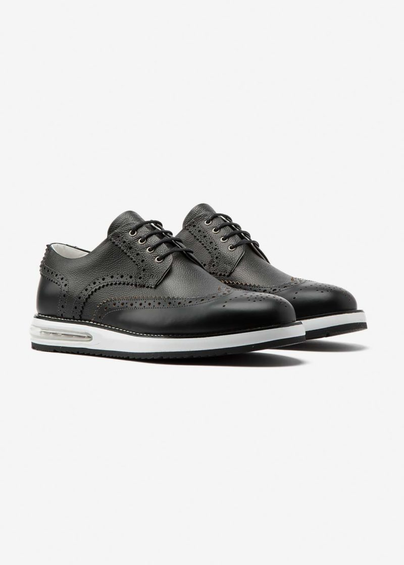 Air Brogue Grain Black