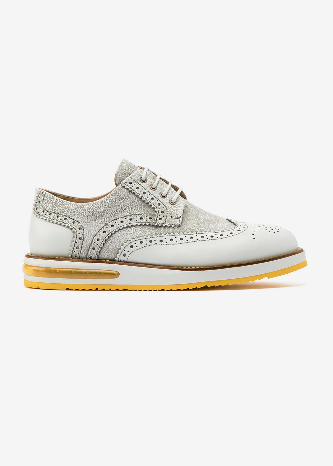 Air Brogue Grain White