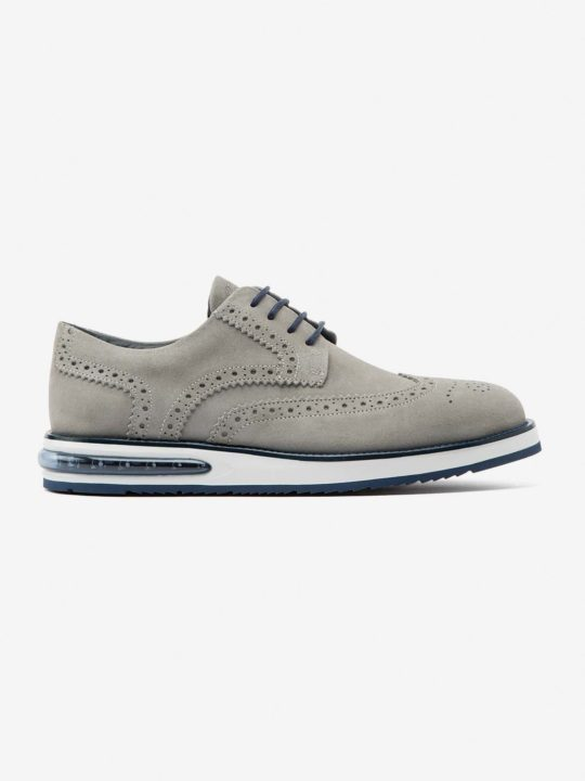 Air Brogue Grey Suede