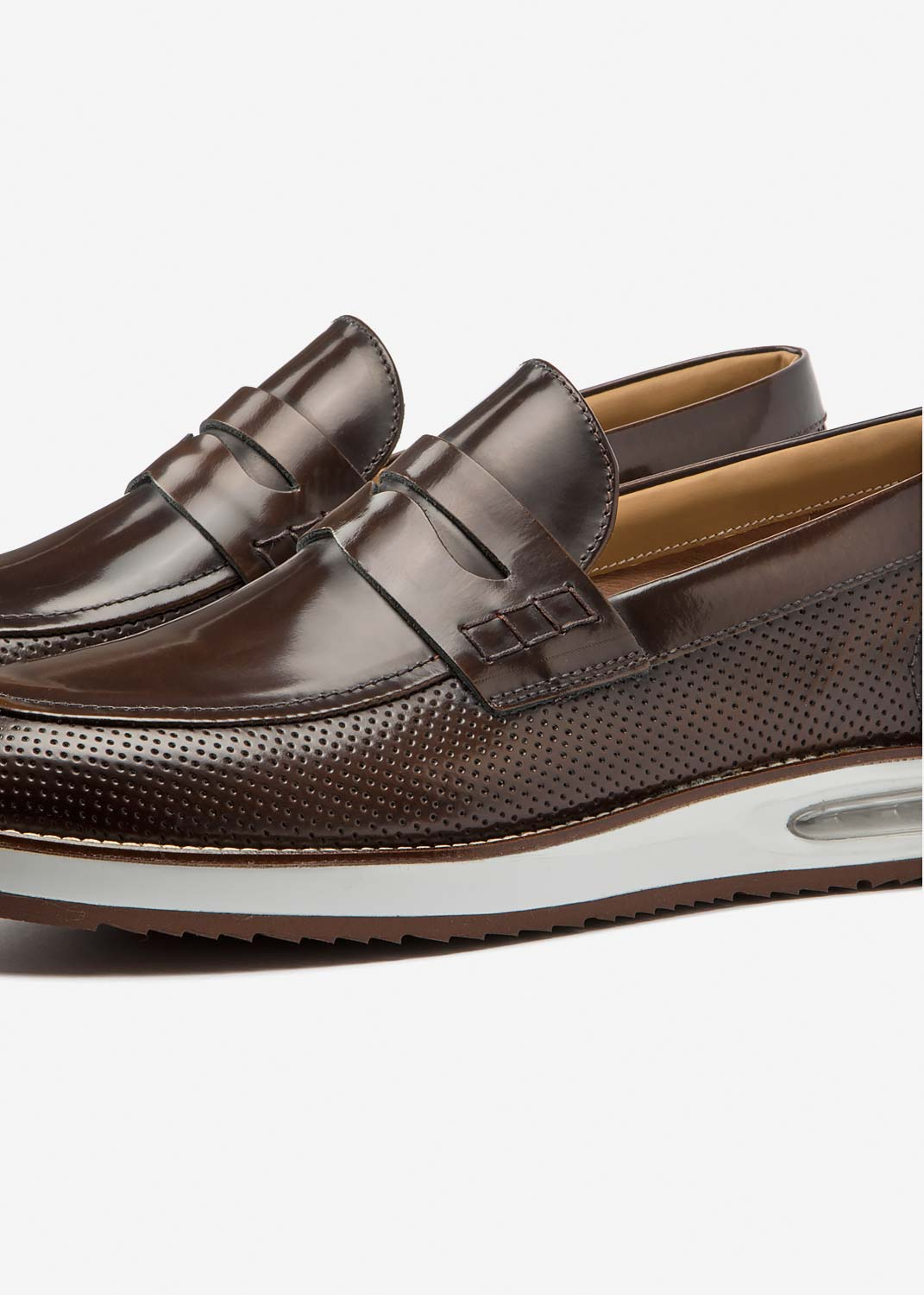 Air Moccasin Brown Leather