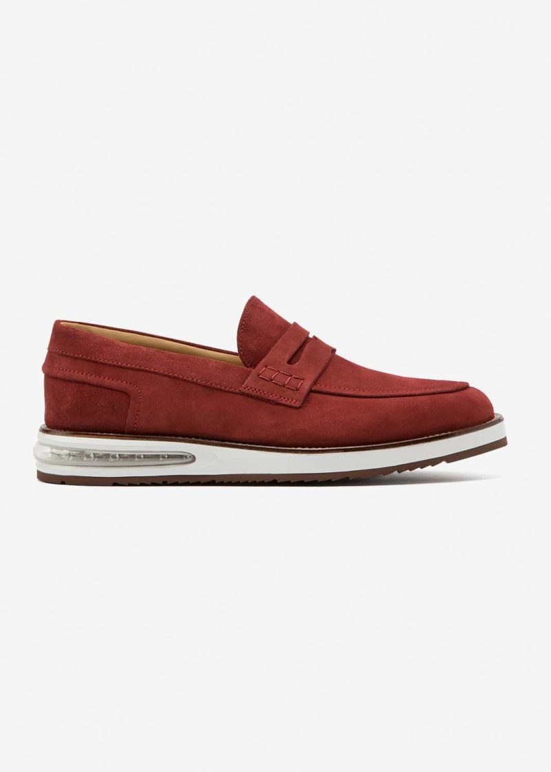 Air Moccasin Red Suede