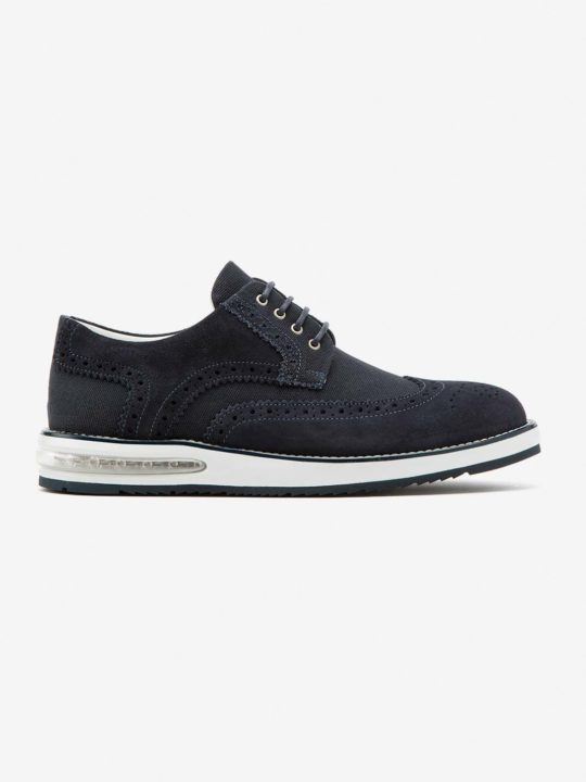 Air Brogue Canvas Blue